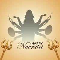 Navratri indian festival greeting card and background vector