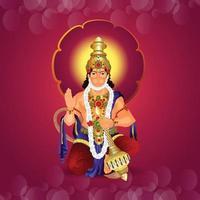 ilustración vectorial de lord hanuman para la feliz celebración de hanuman jayanti vector