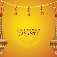 Shri hanuman jayanti indian festival celebration background vector