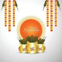 Vector Illustration of kalash on white background