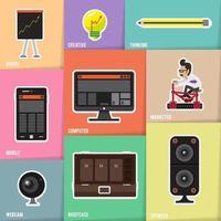 Illustration business concept element vector
