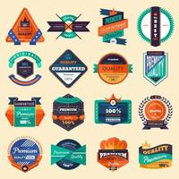 Vector icon set badges
