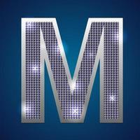 alfabeto parpadeo m vector