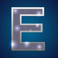 alfabeto parpadeo e vector