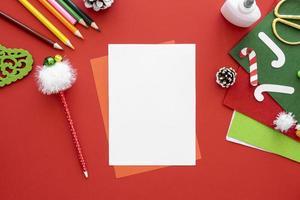 plantilla de tarjeta de navidad foto