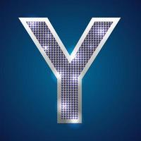 alfabeto parpadeo y vector