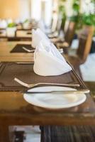 Table set for dinner photo