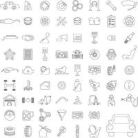 Icon set cars service vector