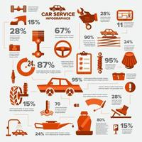 Cars service infographic vector
