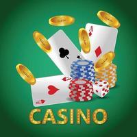 Vector illustration of casino gambling game