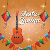 Festa junina background with element vector