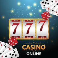 juego de apuestas de casino con ilustración creativa de naipes y fichas de casino vector