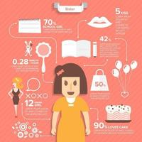 girl infographic vector