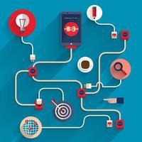 Illustration digital marketing  business concept vector