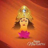 Happy navratri indian festival celebration vector