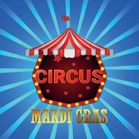 Realistic mardi gras vintage circus party background vector