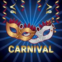 Realistic carnival celebration greeting card and background vector