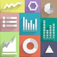 set icon data report graph chart vector