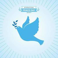 dia internacional de la paz vector