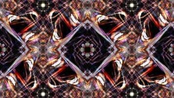 padrão de loop caleidoscópico de ilusão de matriz digital brilhante