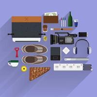Lifestyle item illustrations vector