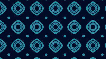 nahtloses Muster aus Quadraten und Kreisen