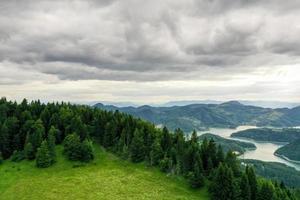 Zaovine Lake view from Tara mountain in Serbia