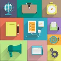 Set vector icon digital marketing