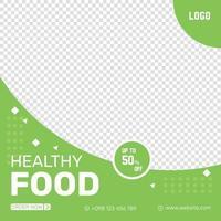 Natural healthy Food Flyer design template vector
