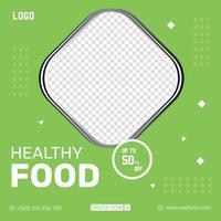 Natural healthy Food green color Flyer design templates vector