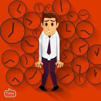 businessman and rush time vector