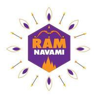 Happy ram navami greeting card vector