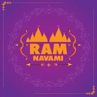 Happy ram navami wallpaper vector