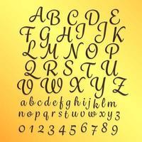 ilustraciones de estilo de escritura a mano del alfabeto az