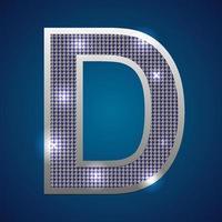 alfabeto parpadeo d vector