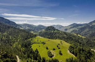 Aerial view at Tara mountain forest in Serbia photo