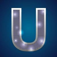 Alphabet blink U vector