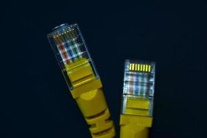Ethernet internet cable close-up photo