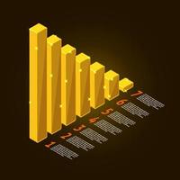 graph chart gold illustrate vector