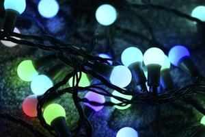 Colorful light bulbs photo
