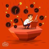 Business concept deadline illustrations vector