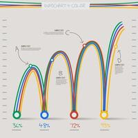 infographic illustrations graph chart vector