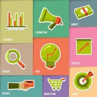 Online Marketing Illustrations icons vector