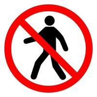 No Entry Symbol Sign Isolate On White Background,Vector Illustration EPS.10 vector