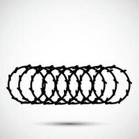 Barbed Wire Black Icon Isolated On White Background vector