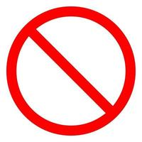 No Sign Empty Red Crossed Out Circle,Not Allowed Sign Isolate On White Background,Vector Illustration EPS.10 vector
