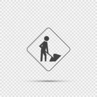 Men At Work Sign on transparent background vector