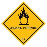 Organic Peroxide Symbol Sign Isolate On White Background,Vector Illustration EPS.10 vector