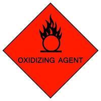Signo de símbolo de agente oxidante aislado sobre fondo blanco, ilustración vectorial eps.10 vector