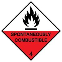 Spontaneously combustible symbol sign Isolate On White Background,Vector Illustration EPS.10 vector
